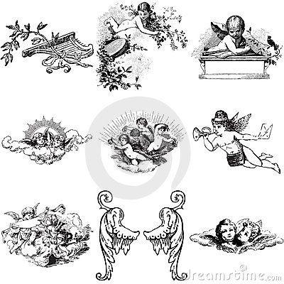 9 Angel Cherubs Tattoo Designs