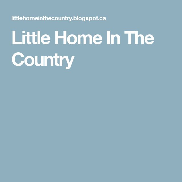 Little Home In The Country