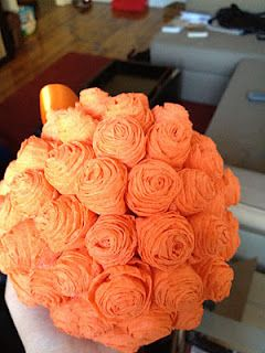 Crepe Paper Flower Ball