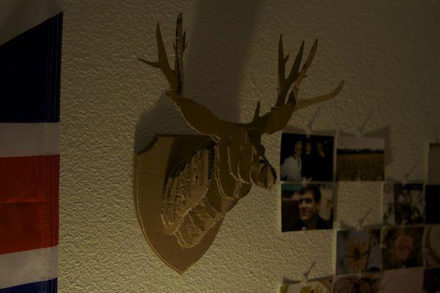 Picture of DIY Cardboard Deer Head