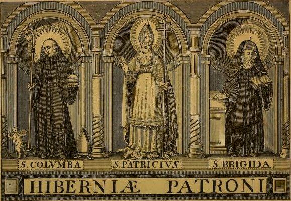 "The Irish ""Big Three""... St. Columba/Colmcille, St. Patrick and St. Brigid"