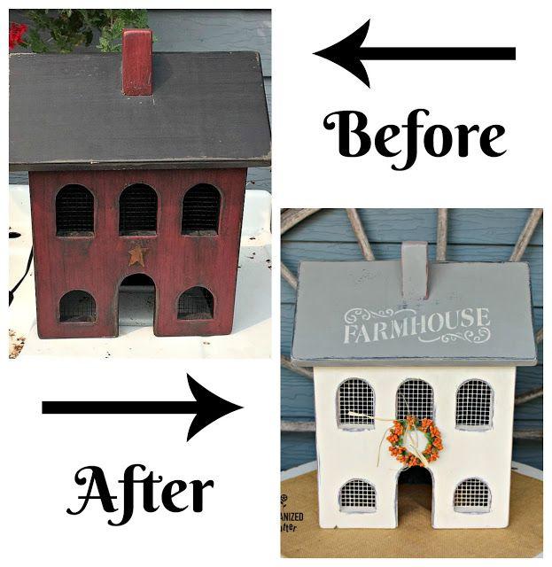 Garage Sale Primitive Salt Box House Gets A Farmhouse Makeover