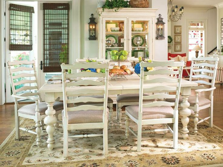 Paula Deen Home, Paula Deen Home Paulau0027s Rectangular Leg Table Dining Room  Set In Linen, Dining Room Table Sets, Bedroom Furniture, Curio Cabinets And  Solid ...