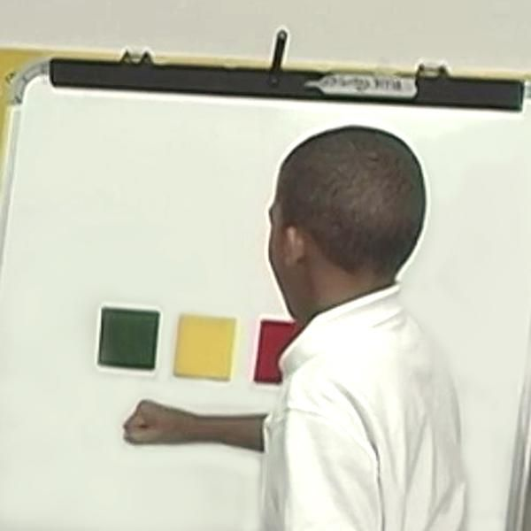 INSTRUCTION - Phoneme blending and segmentation are known as the most important phonemic awareness skills for reading (PRF).  Pound and Sound is a simple and quick activity that can be used to teach these skills as it gets students to pull apart the sounds in consonant-vowel-consonant words and put them back together. To make this activity engaging, teachers post three squares on a board and have students' pound on each square as they produce each sound in teacher generated words (BLD).