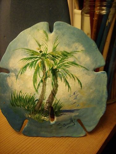 Hand painted sea shell great gift idea