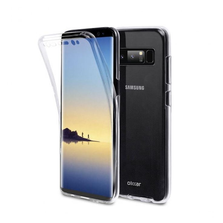 Double Sided Transparent Soft Case - Galaxy Note 8