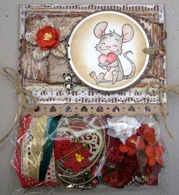 Annes lille hobbykrok: WOJ, Giftbag, Distress Ink