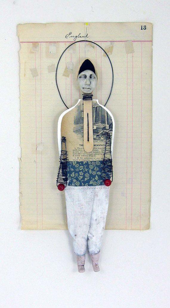 Original Mixed Media Art Doll Rie by Indiandollartworks on Etsy, $75.00