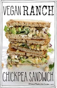Creamy zesty easy-t Creamy zesty easy-to-make vegan ranch...  Creamy zesty easy-t Creamy zesty easy-to-make vegan ranch dressing takes this sandwich to the next level! Vegan Ranch Chickpea Sandwich. Perfect for work or school. Vegetarian dairy-free egg-free gluten-free. #itdoesnttastelikechicken Recipe : http://ift.tt/1hGiZgA And @ItsNutella  http://ift.tt/2v8iUYW