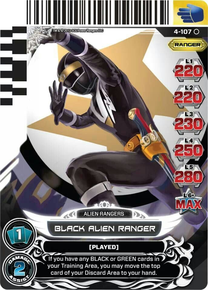 Black Alien Ranger Power Rangers Trading Card