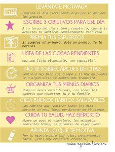 9 puntos básicos para organizar tu día a día