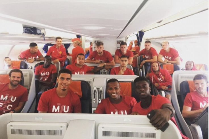 The Manchester United squad have jetted off to China as part of their first pre-season tour under new manager Jose Mourinho