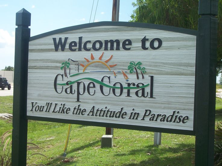 Image result for cape coral welcome sign free images