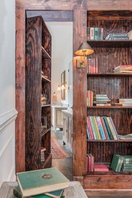 gizli odalar icin kitaplikli kapi