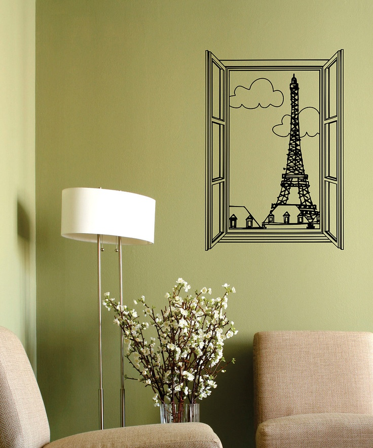 Belvedere Black View of Paris Wall Decal - @Stephanie Close Rock would love this!