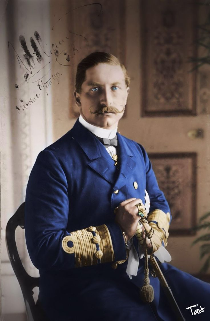 Kaiser Wilhelm II, final sovereign of the House of Hohenzollern, the last King of Prussia, and the third and last Emperor of Germany.
