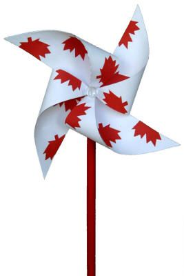 9. A craft you could do at the cottage - Canada Day pinwheel - an Eco-friendly craft