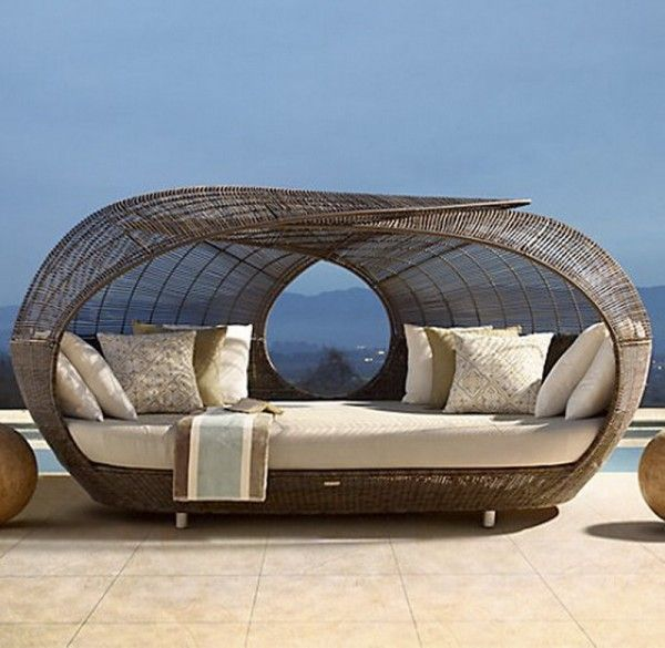 spartan daybed by neoteric luxury patio furniture and outdoor furniture restoration hardware