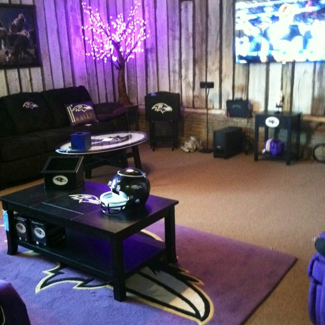 Man Cave Nelson : The ultimate room for game day baltimore ravens