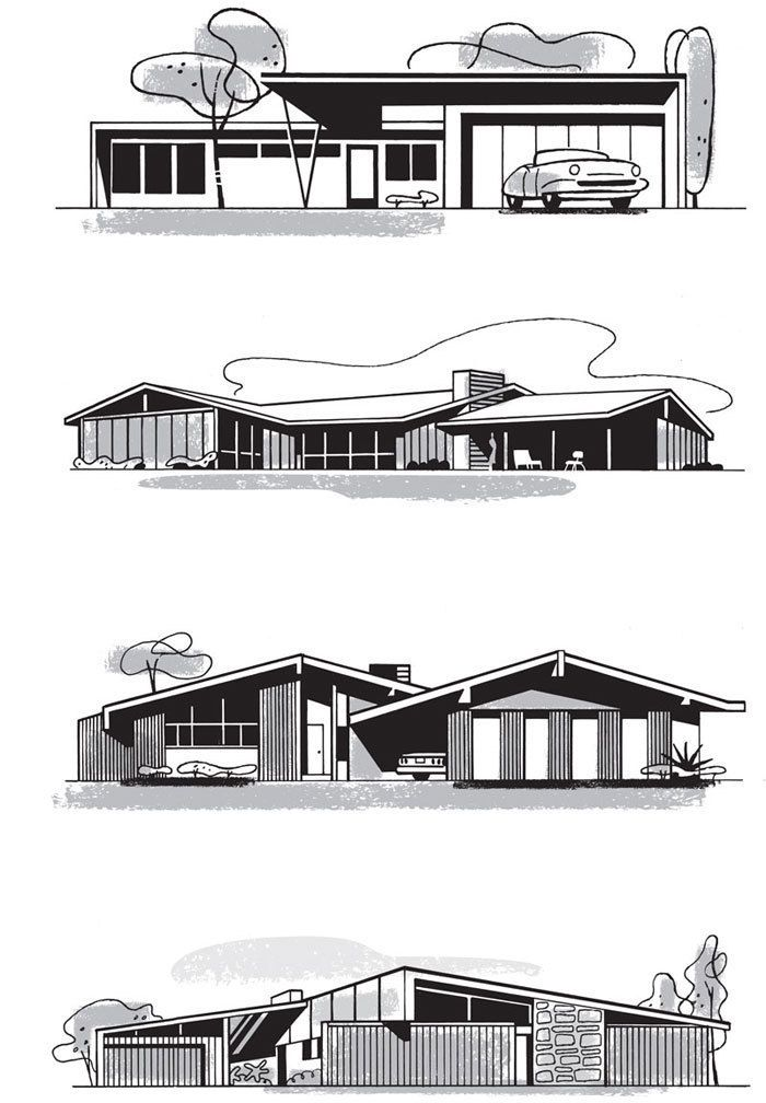 Architectural Drawings Of Modern Houses mad for mid-century: mid-century home illustrationsmid century