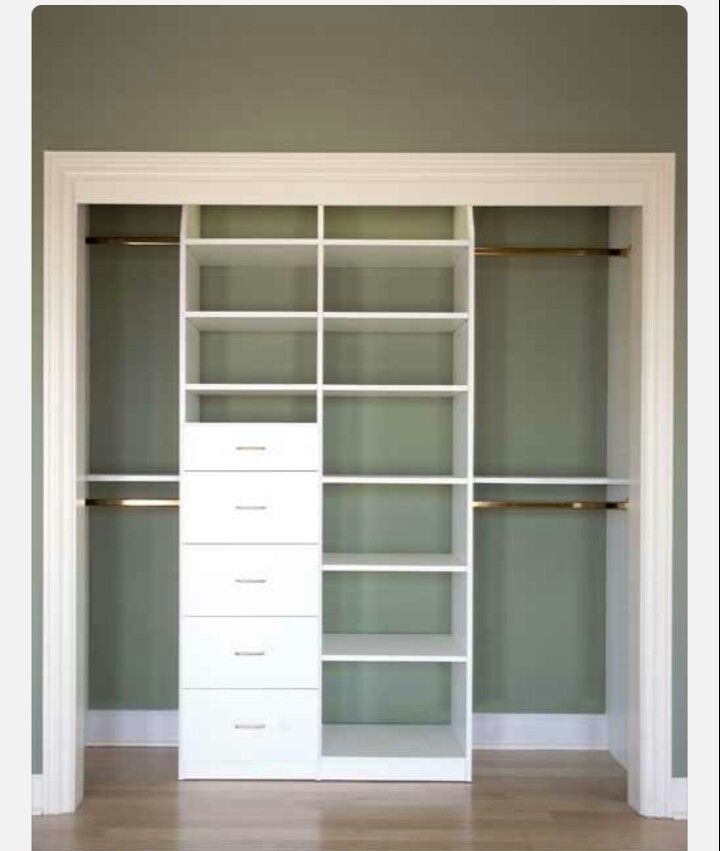 Organization for a small closet! Love this