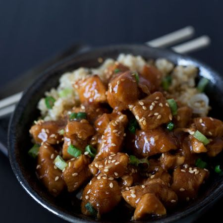 Pressure cooker Honey Sesame Chicken recipe (would need altering to serve two)
