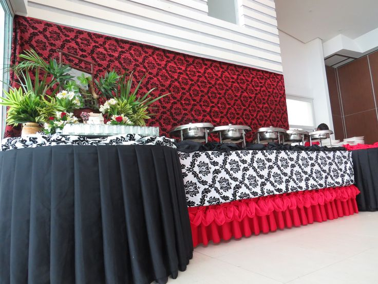 Red Black And White Motif Buffet Table | WEDDING THEMES | Pinterest | Buffet  Ideas And Weddings