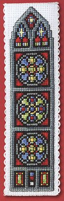 Stained Glass Window Bookmark (counted cross stitch kit)