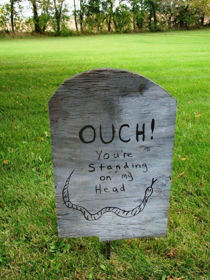 funny halloween decorations - Funny Halloween Tombstones
