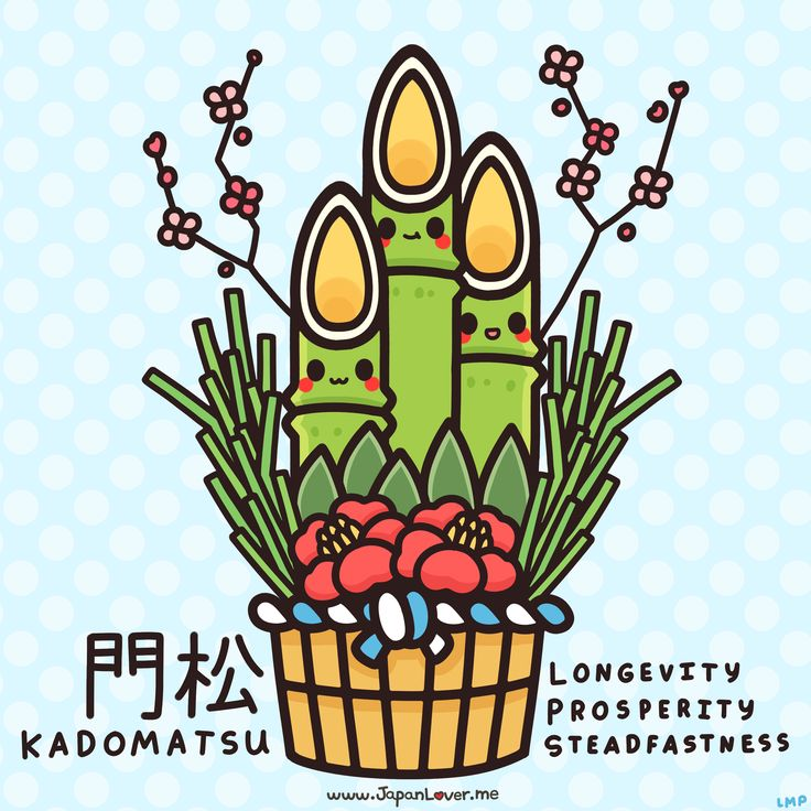 Before the new year, the Japanese put up decorations called kadomatsu, which are made up of bamboo, pine, and ume (Japanese apricot/plum) tree sprigs. This symbolizes longevity, prosperity, and steadfastness.    ♥ www.japanlover.me ♥