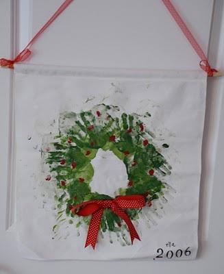 hand print wreath (school project)