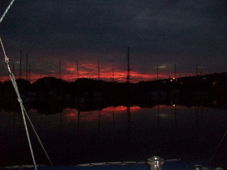 Sunrise over the Bluff, Durban