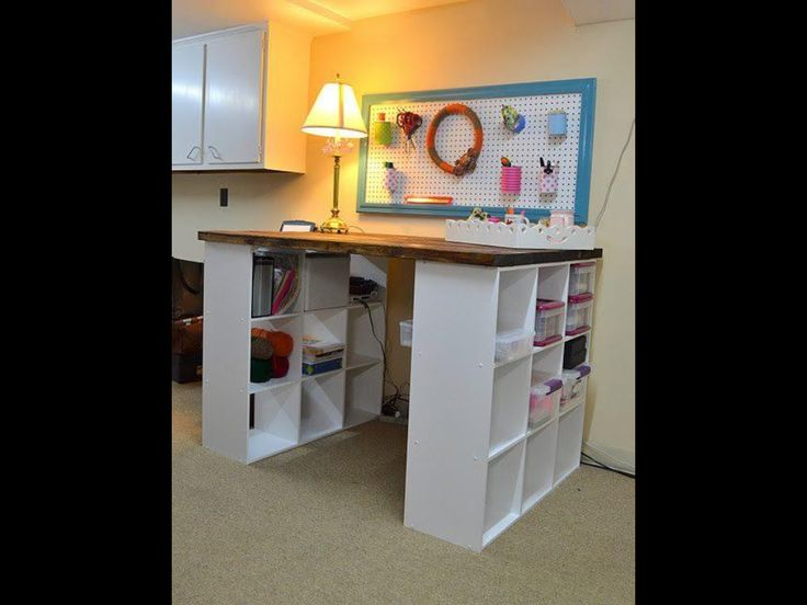 craft room ideas bedford collection. PB Project Table Knock Off DIY Or Pottery Barn-great For A Desk With Lot Of Storage Space Craft Room Ideas Bedford Collection