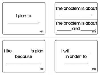 MATHEMATICAL PRACTICES PARTNER & GROUP DISCUSSION CARDS - TeachersPayTeachers.com