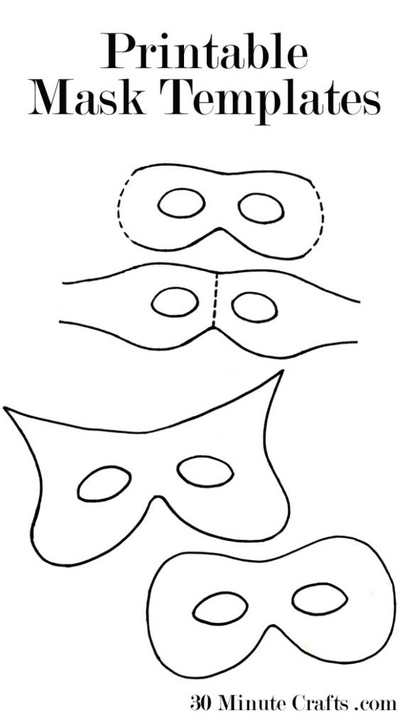 Printable Mask Templates (perfect for Halloween) - you can even cut them out with your Silhouette!