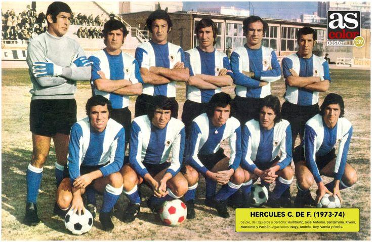 Hercules Alicante team group in 1973-74.