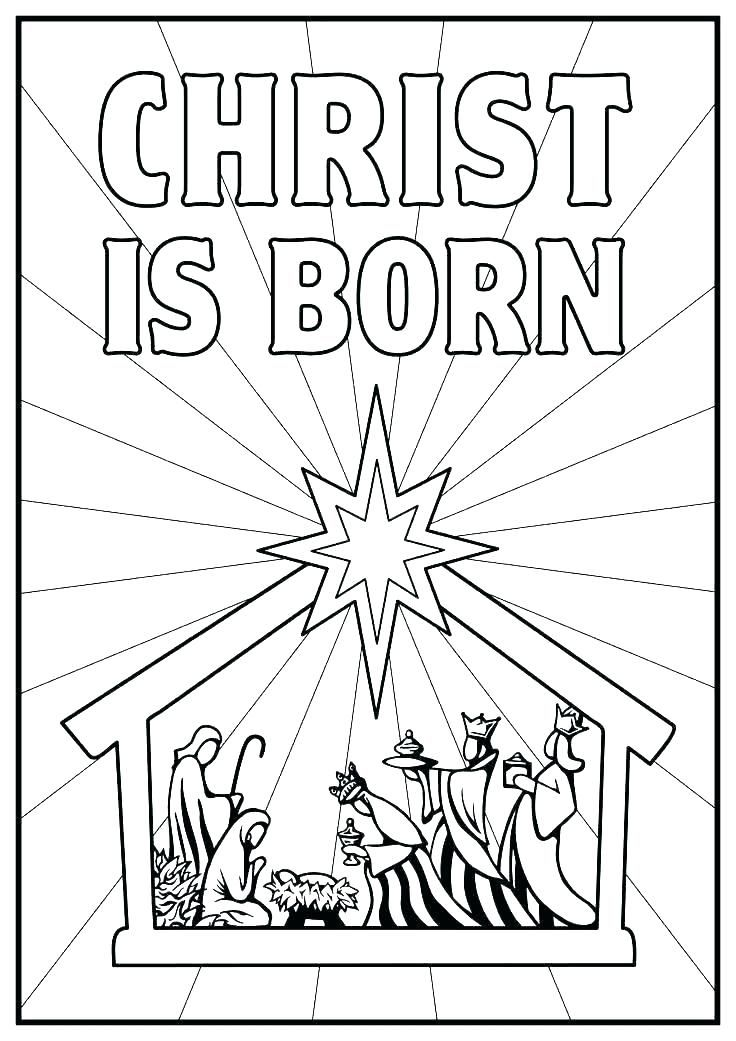 Birth Of Jesus Is Born Coloring Sheets Nativity Coloring