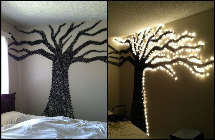 Must have/make wall tree made out of christmas lights