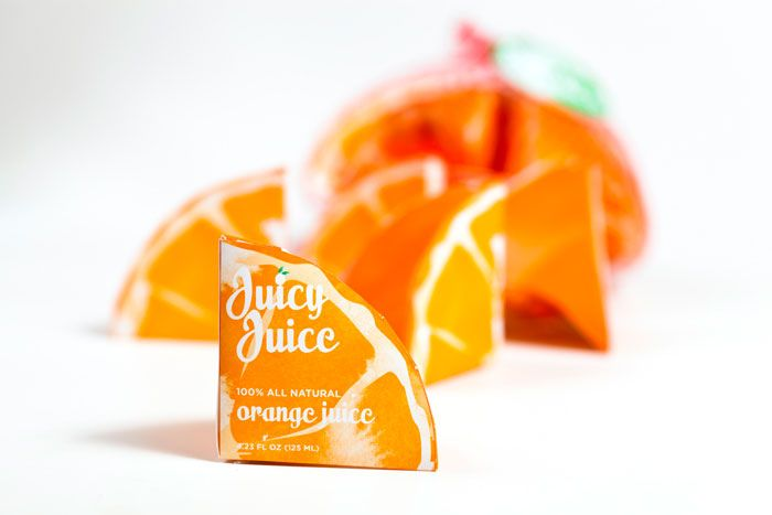 Creative orange juice packagingJuice Boxes, Juicy Juice, Packaging Design, Juice Packaging, Beautiful Packaging, Design Concept, Design Packaging, Orange Juice, Creative Packaging