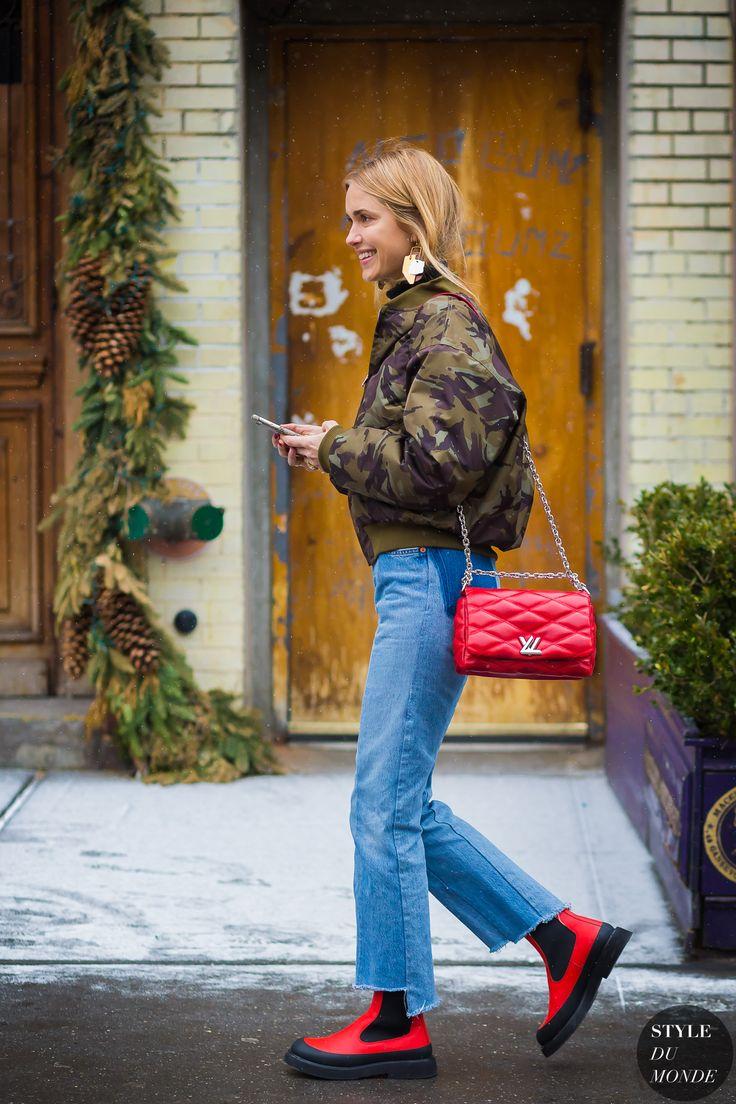 New York Fashion Week FW 2016 Street Style: Pernille Teisbaek