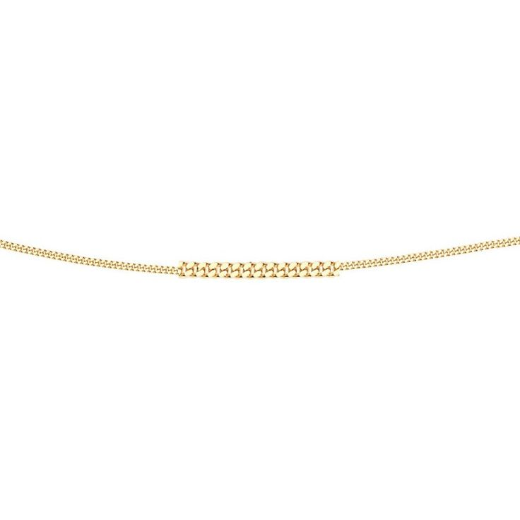 Hallmarked 9ct Yellow Gold Diamond Cut Curb Chain - 46cm - This elegantly designed chain from the Elements Gold collection is expertly crafted from hallmarked 9ct yellow gold in an enchanting and everlasting style: http://ow.ly/Xy3lS