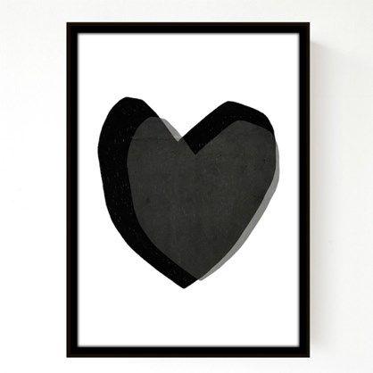 Seventy Tree Layered Hearts A3 - 229kr