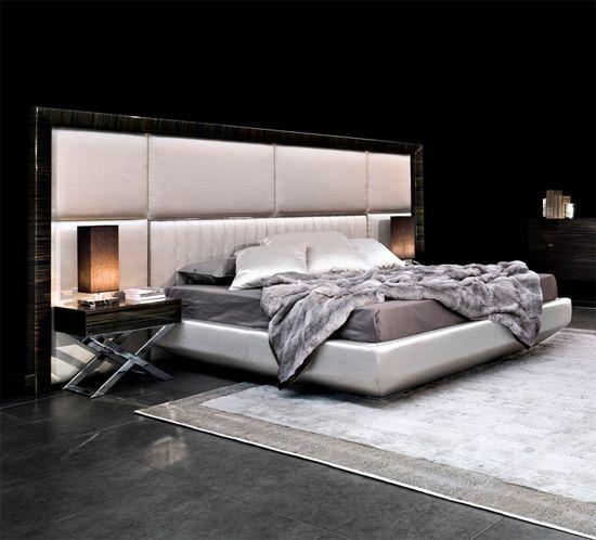 Macassar Ebony - MACASSAR EBONY FRAMED PANELLED BED ART.KIM