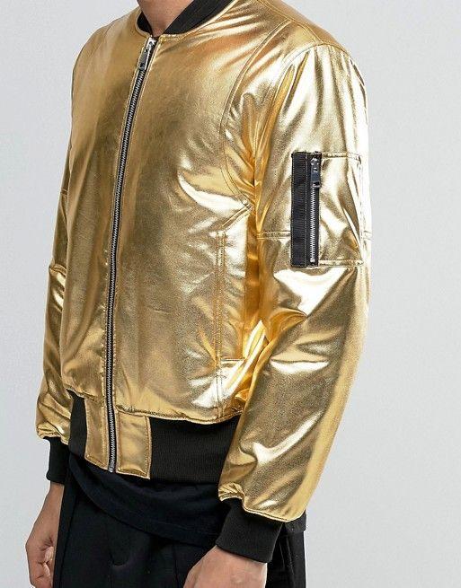 ASOS | Cazadora bomber con bolsillo en dorado MA1 de ASOS