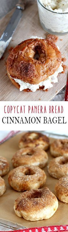 Cinnamon Crunch Bagel and Honey Walnut Cream Cheese Panera Bread Copy Cat Recipe