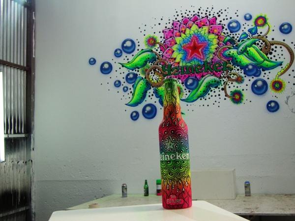 Art for Heineken. Celebrating 140th aniversary, futture bottle contest. #Heineken #YourFutureBottle