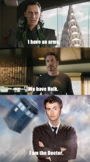 Doctor wins EVERY. TIME.: Beats, Geek, Allonsy, Stuff, Crossover, The Doctor, Doctor Who, Doctors, Tardis