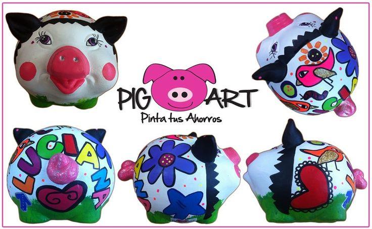 Nuestras alcancías de marcan como tú quieras!!! Haz tu pedido ahora! #save #money #alcancia #piggy #bank #ahorro #dinero #nofilter #Luciana