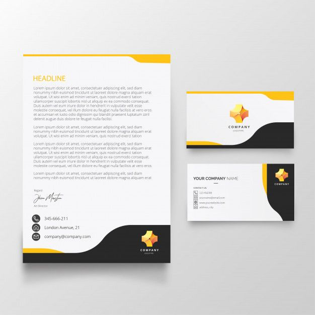 Download Modern Letterhead And Business Card Template For Free Business Card Template Free Business Card Templates Free Printable Business Cards