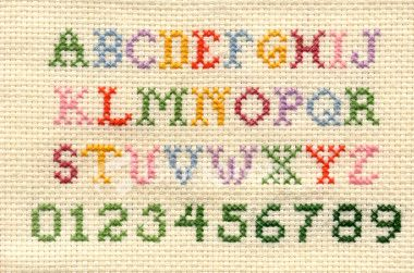 love the style of this cross-stitch alphabet.